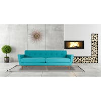 Gracewood Hollow Aouchal Mid-century Modern Cashmere Tweed Classic Sofa