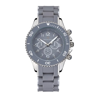 Timothy Stone Women's Amber Silicone Grey/Silver-Tone Watch