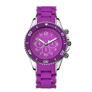 Timothy Stone Women's Amber Silicone Purple/Silver-Tone Watch (Option: Purple)