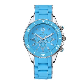 Timothy Stone Women's Amber Silicone Blue/Silver-Tone Watch