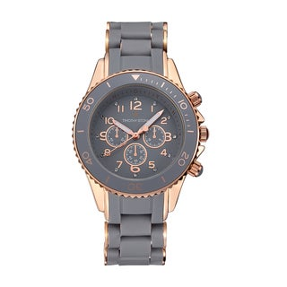 Timothy Stone Women's Amber Silicone Grey/Rose Gold-Tone Watch