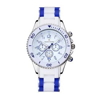 Timothy Stone Women's Amber White Blue/Silver-Tone Watch