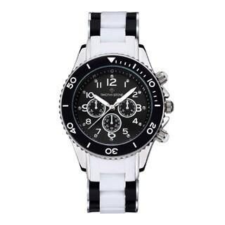 Timothy Stone Women's Amber White Black/Silver-Tone Watch