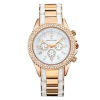 Timothy Stone Women's Amber Bicolor Silver-Tone/White Watch