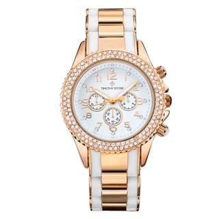 Timothy Stone Women's Amber Two-tone Stainless Steel Design Watch|https://ak1.ostkcdn.com/images/products/12826273/P19593203.jpg?impolicy=medium