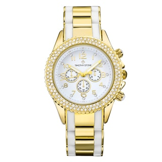 Timothy Stone Women's Amber Bicolor Gold-Tone/White Watch