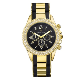 Timothy Stone Women's Amber Bicolor Gold-Tone/Black Watch