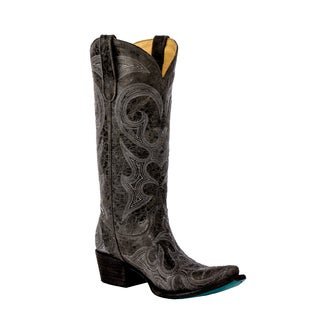 Lane Boots Women's Lovesick Grey Leather Cowboy Boots