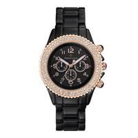 Women's 'Amber' Crystal Faux Ceramic Boyfriend Bracelet Watch 39mm by Timothy Stone