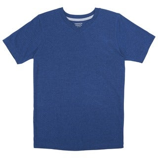 French Toast Boy's Basic Blue Cotton and Polyester V-neck Tee