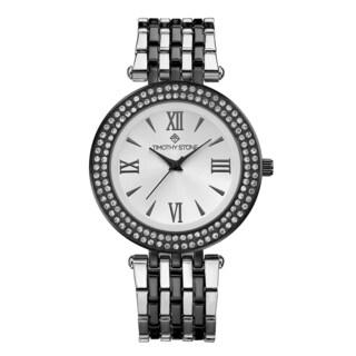 Timothy Stone Women's Burst Bicolor Black/Silver Tone Watch