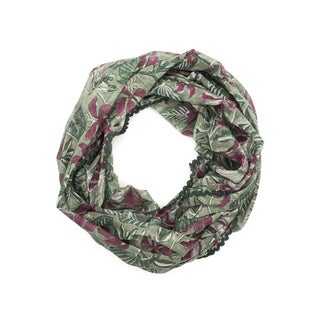 Block Print Botanical Scarf - Emerald