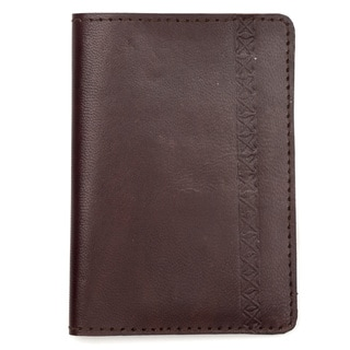 Sustainable Leather Passport Wallet - Brown