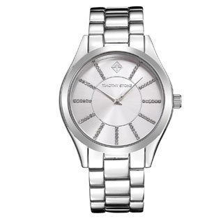 Women's 'Charme' Crystal Embellished Stainless Steel Boyfriend Bracelet Watch 40mm by Timothy Stone