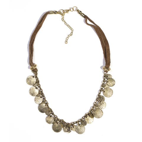 Handmade Market Necklace- Gold (India)