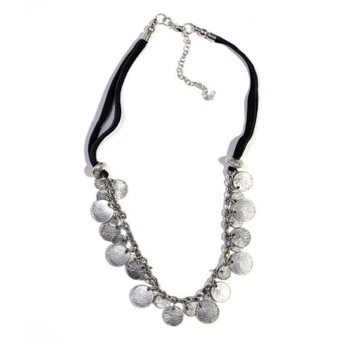 Handmade Black/Silver Market Necklace (India)