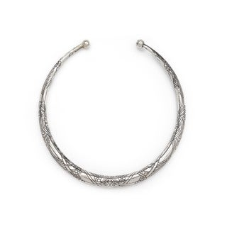 Selene Collar Necklace - Silver