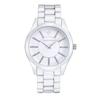 Timothy Stone Women's Charme Faux Ceramic White Watch