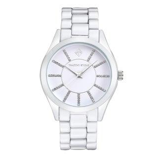 Timothy Stone Women's Charme Faux Ceramic White Watch