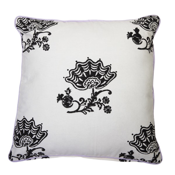 Jacobean Block Print Pillow Cover