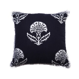 Jacobean Indigo Block Print Pillow Cover