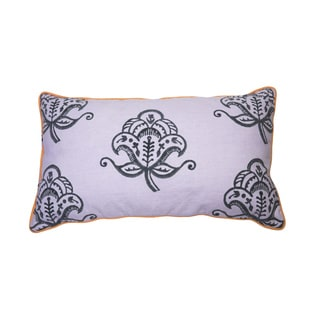 Long Jacobean Block Print Pillow