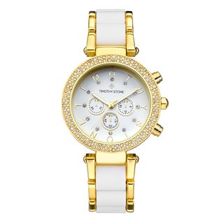 Timothy Stone Women's Desire Gold-Tone/White Watch