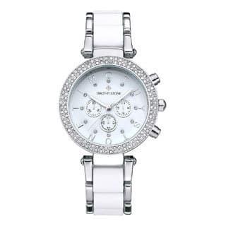 989da023d38 Women s  Desire  Crystal Accented Two-Tone Stainless Steel Bracelet  Boyfriend Watch 39mm by