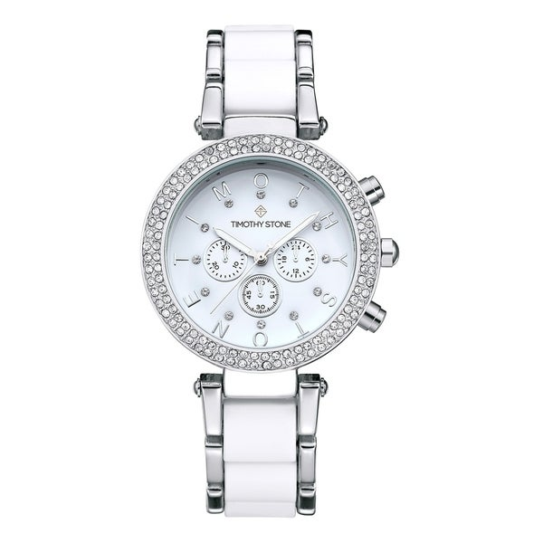 571bb2e62a1 Shop Women s  Desire  Crystal Accented Two-Tone Stainless Steel ...