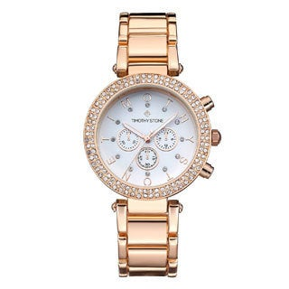 Women's 'Desire' Crystal Accented Stainless Steel Bracelet Boyfriend Watch 39mm by Timothy Stone