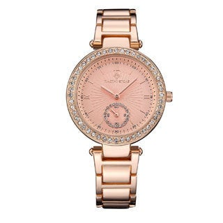 Women's 'Elle' Classic Crystal Accented Stainless Steel Bracelet Watch 36mm by Timothy Stone