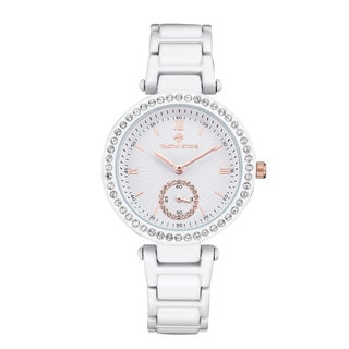 Timothy Stone Women's Facon White Stainless Steel Designer Watch