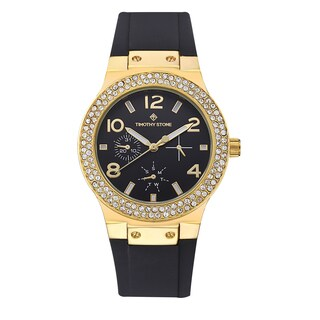 Timothy Stone Women's Facon Silicone Gold-Tone/Black Watch