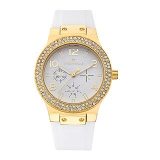 Timothy Stone Women's Facon Silicone Gold-Tone/White Watch
