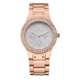 Timothy Stone Women's Facon Rose-tone Stainless Steel Designer Watch