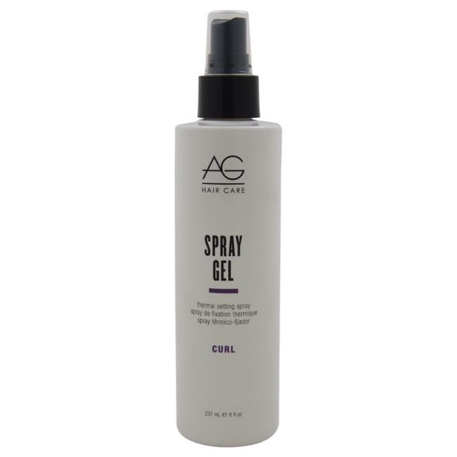 AG HAIR 8-ounce Spray Gel Thermal Setting Spray, White
