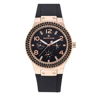 Timothy Stone FACON Rose Gold/Black Women's Design Watch
