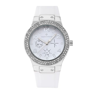 Timothy Stone Women's Facon Silver-Tone/White Watch