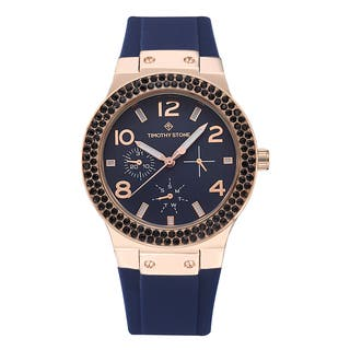 Timothy Stone Women's Facon Rose Gold/Blue Silicone Fashion Watch https://ak1.ostkcdn.com/images/products/12827571/P19594347.jpg?impolicy=medium