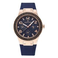 Timothy Stone Women's Facon Rose Gold/Blue Silicone Fashion Watch