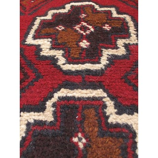 eCarpetGallery Hand-knotted Bahor Red/Black/Cream/Brown Wool Rug (3'2 x 5'5)