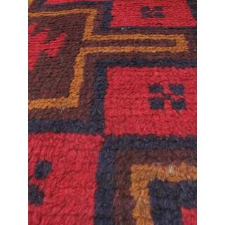 eCarpetGallery Kazak Blue/Red Wool Hand-knotted Rug (3'4 x 6'2)