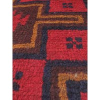 eCarpetGallery Kazak Blue/Red Wool Hand-knotted Rug (3'4 x 6'2)