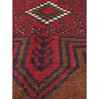 eCarpetGallery Kazak Blue, Red Hand-knotted Wool Rug (3'3 x 6'7)
