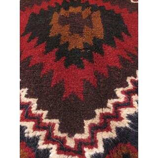 eCarpetGallery Kazak Blue/Red Wool Hand-knotted Rug (3'10 x 6'4)