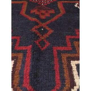 eCarpetGallery Kazak Blue/Red Wool Hand-knotted Oriental Area Rug (3'6 x 6'4)