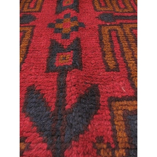 eCarpetGallery Kazak Red Wool Hand-knotted Rug (3'2 x 5'11)