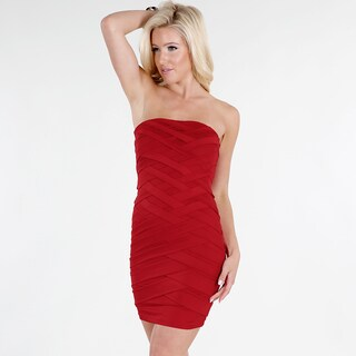 Nikibiki Women's Red Criss-crossing Tube Dress