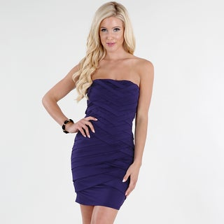 NikiBiki Women's Grape Purple Spandex and Polyester Crisscross Tube Dress