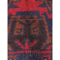 eCarpetGallery Bahor Red Wool Hand-knotted Rug (3'5 x 6'3)